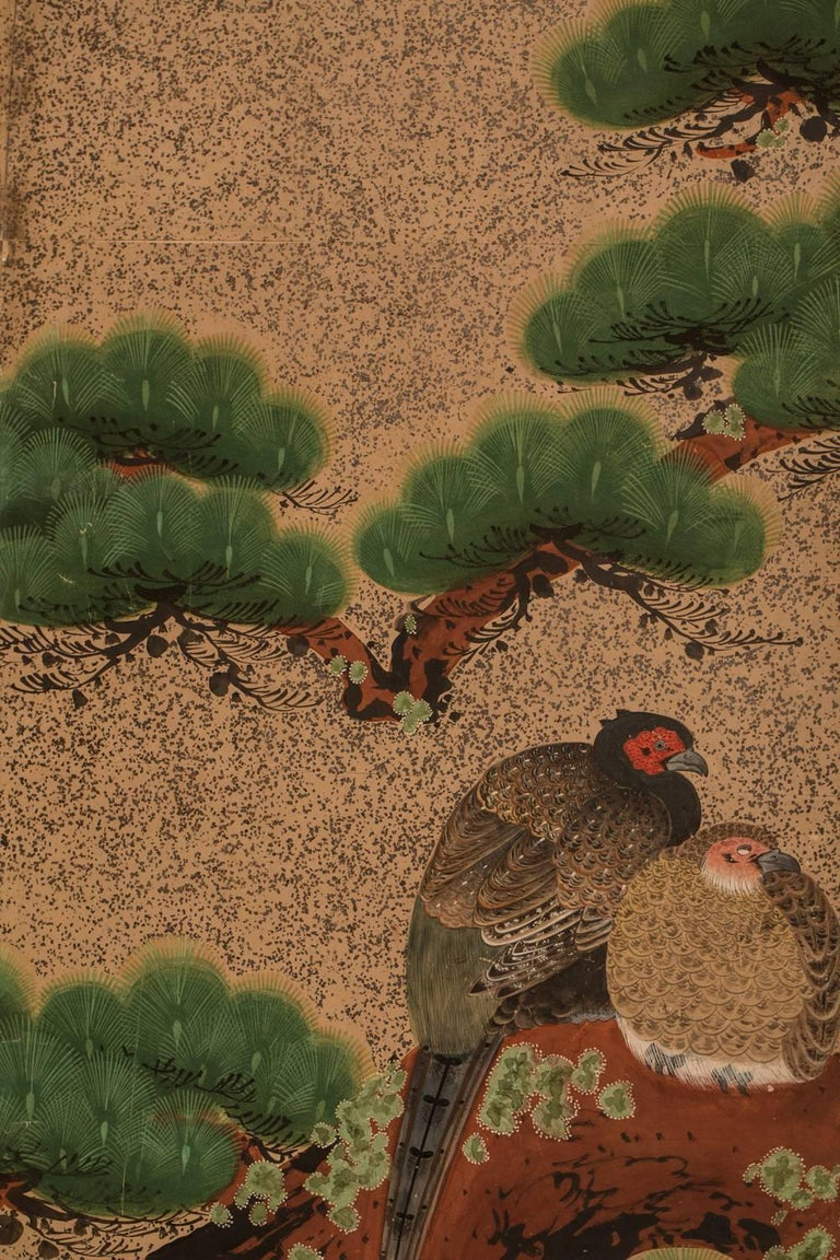 19th Century Japanese Six Panel Screen,