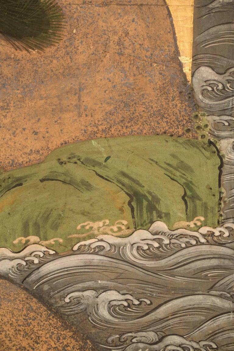 Japanese Six Panel Screen: Battle of Uji Bridge For Sale 6