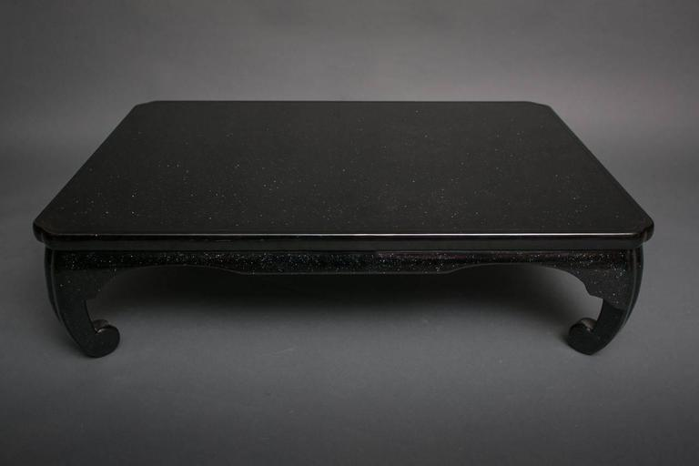 Japanese Black Lacquer Coffee Table 2