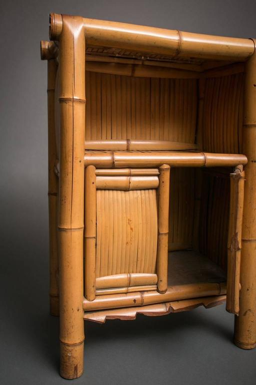 Japanese rare and unusual bamboo cabinet for sale at 1stdibs for Bamboo kitchen cabinets for sale