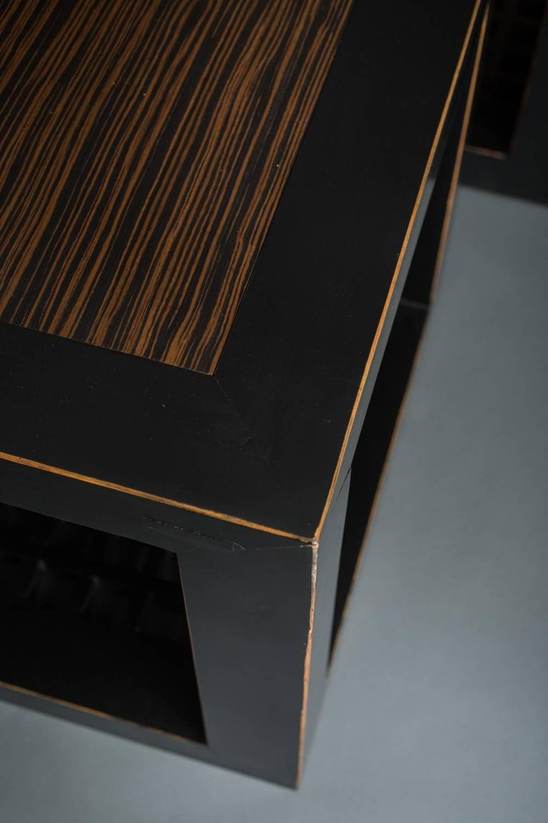 Pair of Chinese Black Lacquer Cube Tables For Sale 1