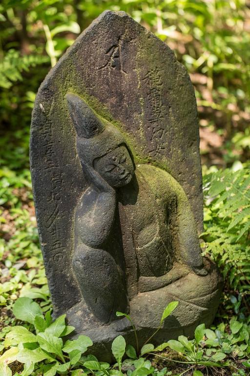 japanese 16th century carved sleeping buddha garden sculpture for sale - Buddha Garden