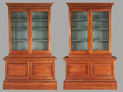 Pair of Impressive Georgian Style Pine Cabinets