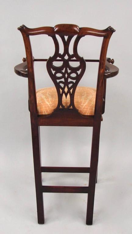 English Chippendale Style Mahogany Child's High Chair For Sale - Chippendale Style Mahogany Child's High Chair At 1stdibs