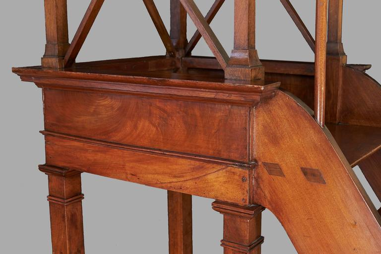 Spectacular Set of French Directoire Style Fruitwood Library Stairs For Sale 3