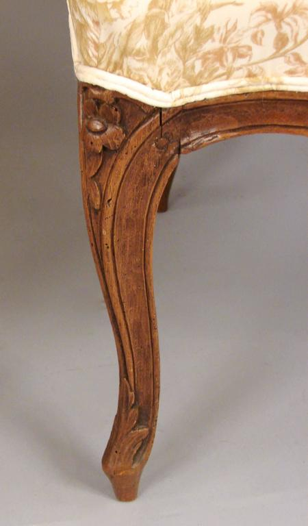 Pair of French Walnut Louis XV Style Armchairs In Good Condition For Sale In San Francisco, CA