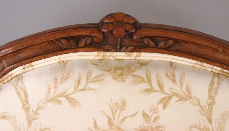 Pair of French Walnut Louis XV Style Armchairs 5
