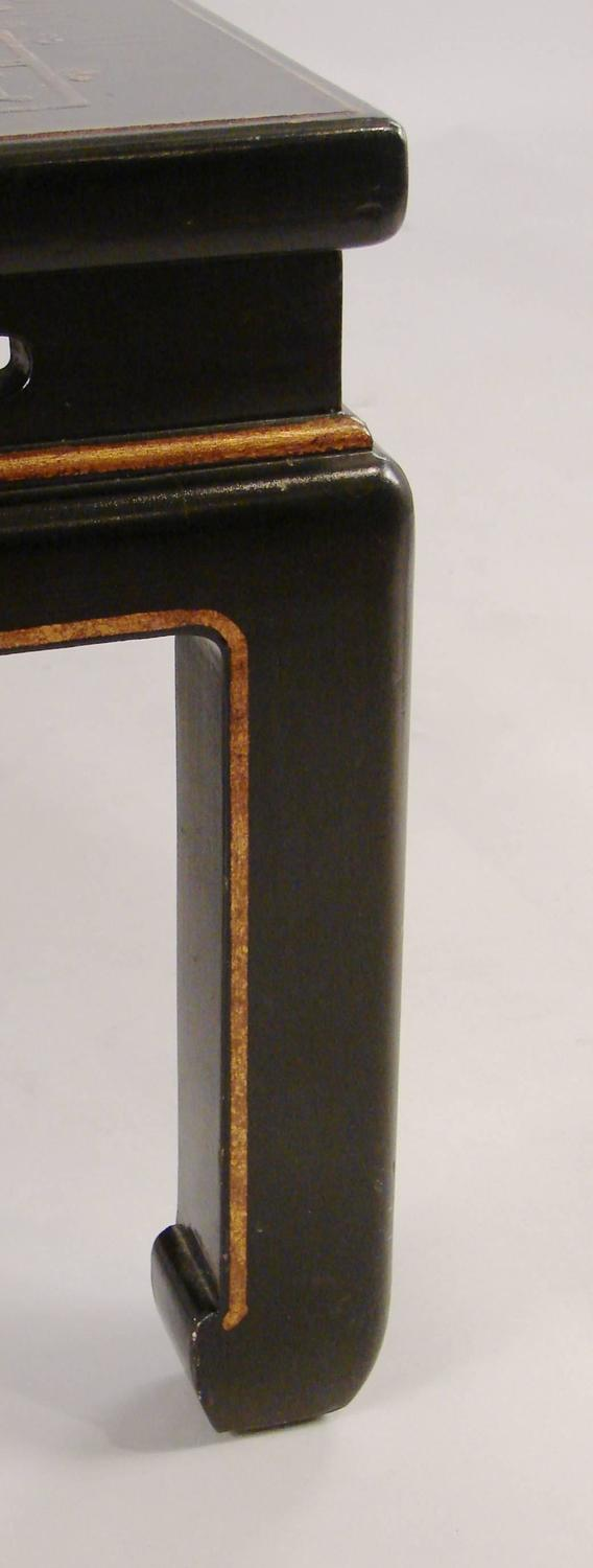 Chinese black lacquer low table at 1stdibs for Chinese black lacquer furniture