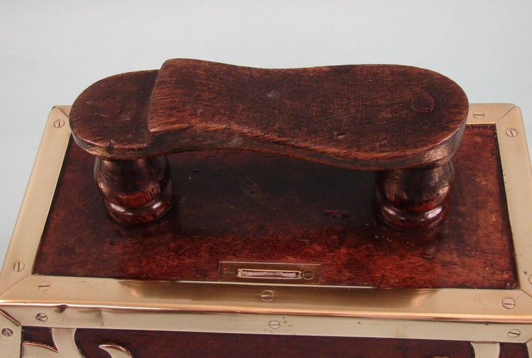 Highly Decorative Mahogany Turkish Art Nouveau Period Shoe Shine Box In Good Condition For Sale In San Francisco, CA