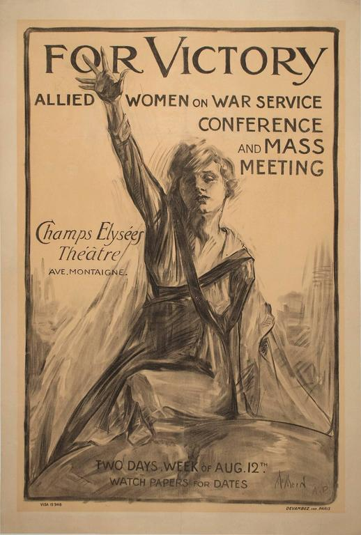 Recruitment Poster for Women of War Services by Neysa McMein For Sale 1