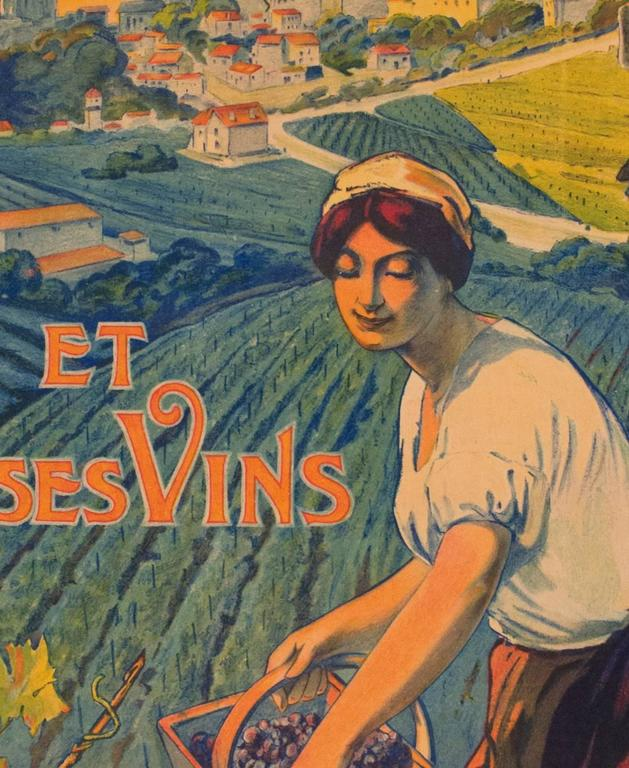 This Is The Only Known Early Travel Poster For Important French Wine Region In Bordeaux