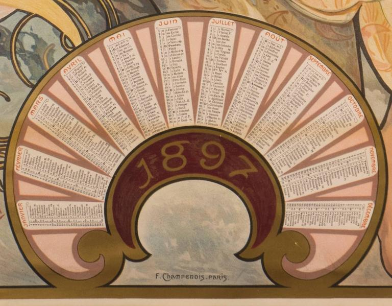 Paper Alphonse Mucha Biscuits Lefevre-Utile 1897 Original Art Nouveau Poster For Sale
