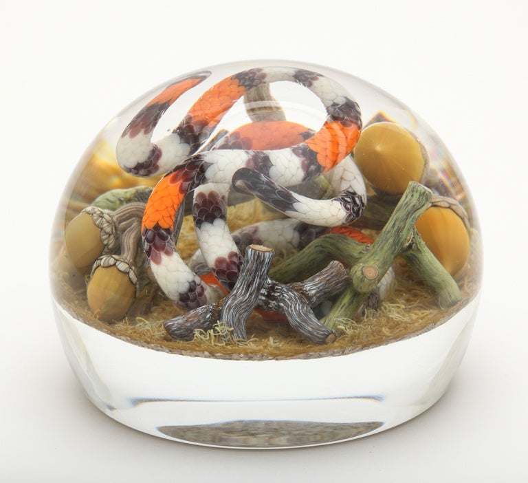 Gordon Smith Cobra Coral Snake Paperweight For Sale At 1stdibs