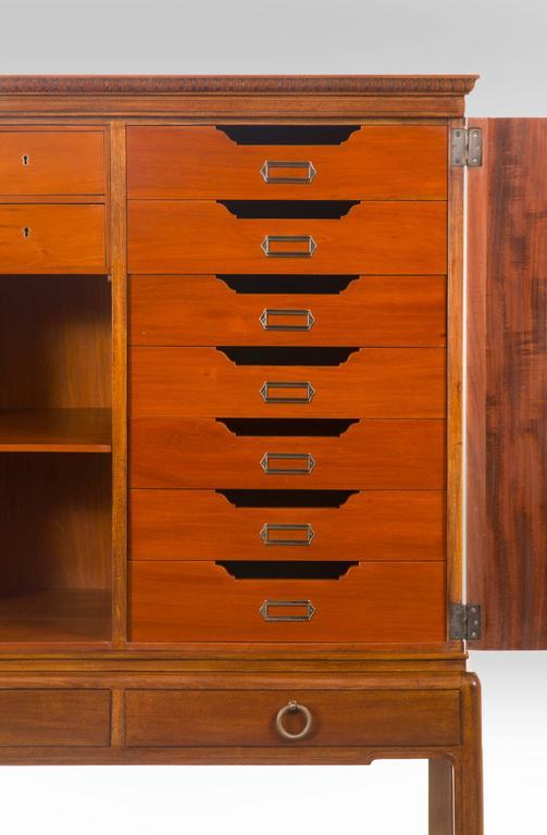 David Blomberg, Swedish Mahogany and Burl Walnut Cabinet on Stand For Sale 3