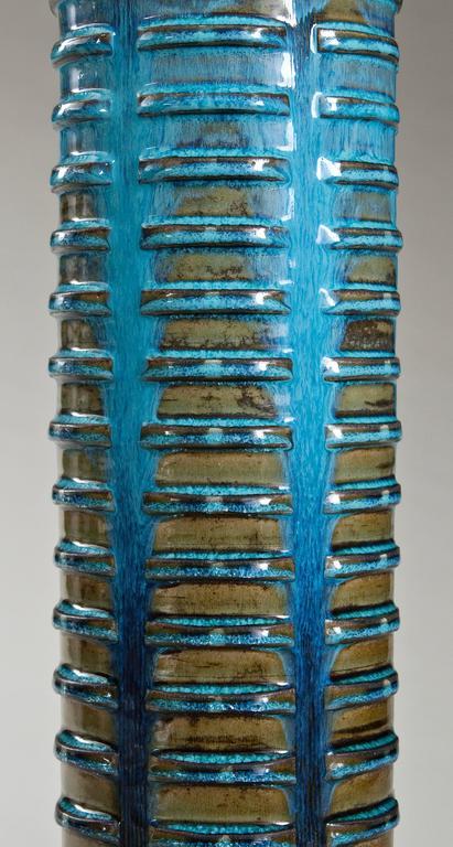 Scandinavian Modern Wilhem Kåge for Gustavsberg, Exceptional Large Swedish Farsta Stoneware Vase For Sale
