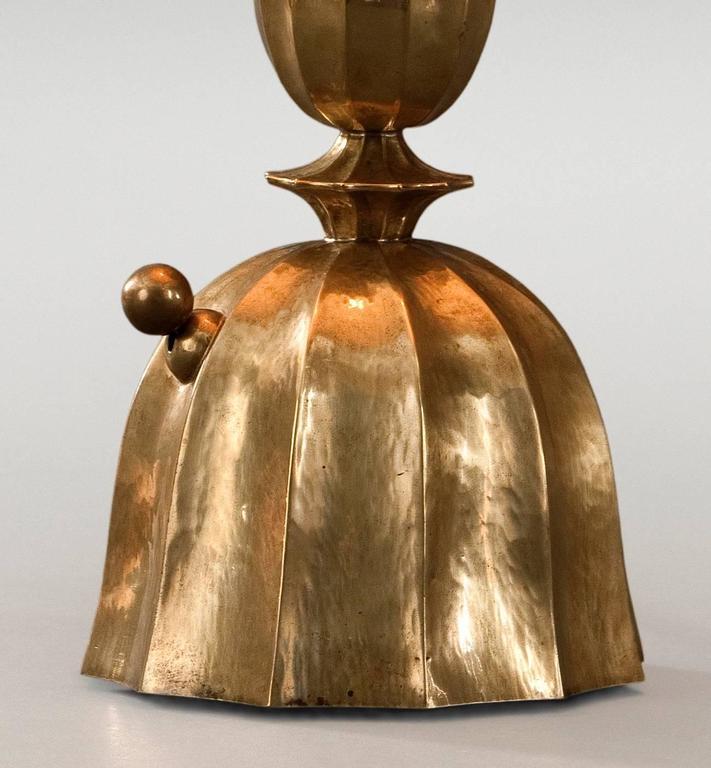 Josef Hoffmann, Wiener Werkestätte, Vienna Secession, Pair Brass Table Lamps 5
