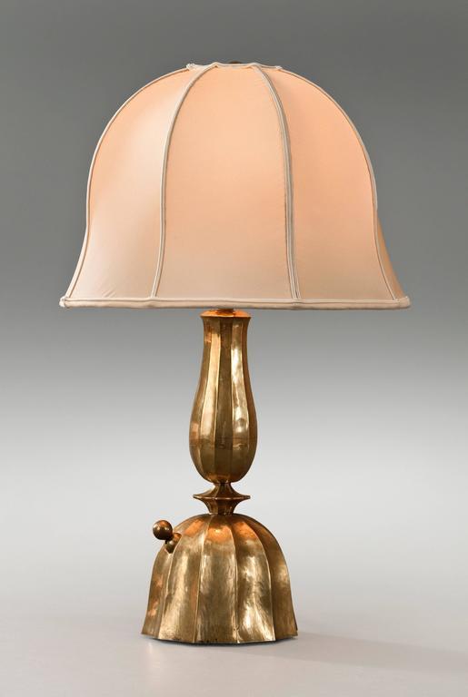 Josef Hoffmann, Wiener Werkestätte, Vienna Secession, Pair Brass Table Lamps 2