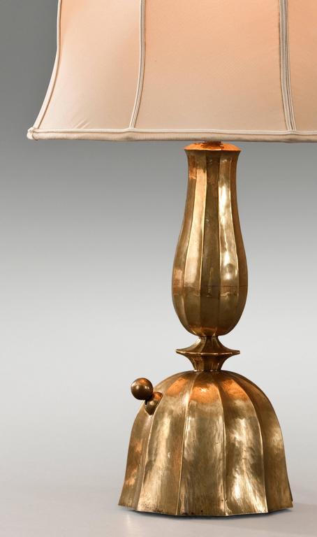 Josef Hoffmann, Wiener Werkestätte, Vienna Secession, Pair Brass Table Lamps 3