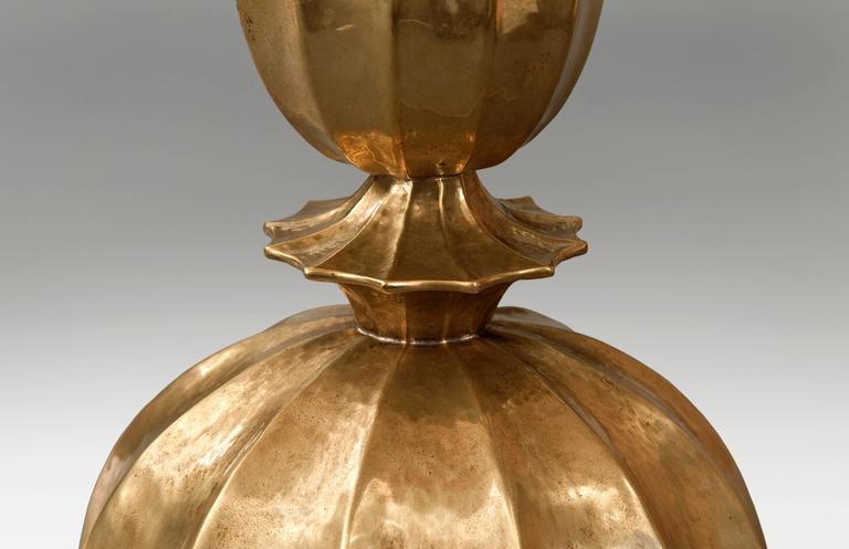 Josef Hoffmann, Wiener Werkestätte, Vienna Secession, Pair Brass Table Lamps 4