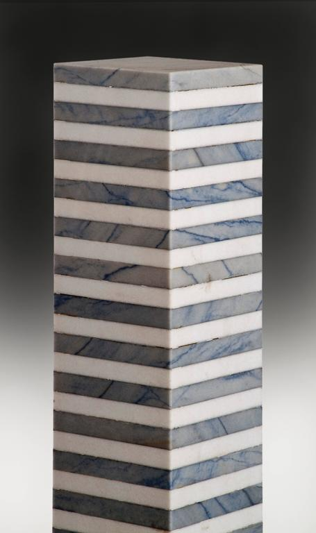 Ettore Sottsass, Italian Marble Pedestal, Stand No. 6 In Good Condition For Sale In New York, NY
