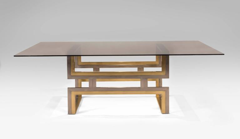 Romeo Rega, Exceptional Italian Chrome and Brass Dining / Center Table 3