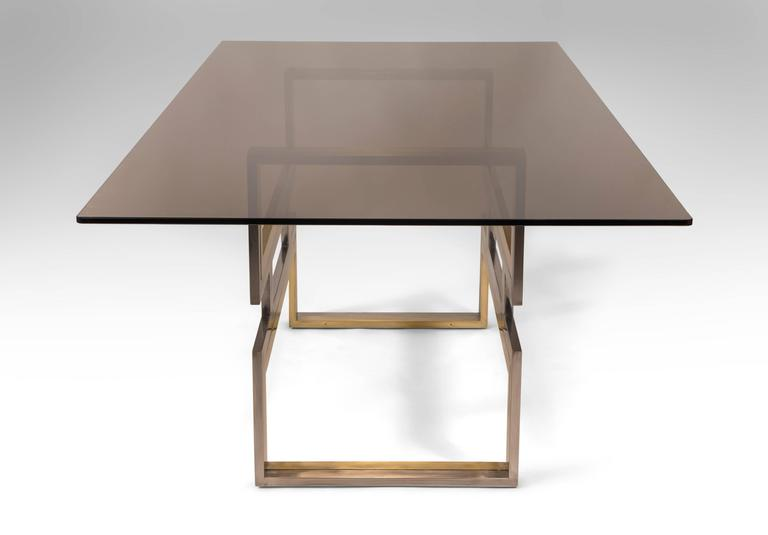 Romeo Rega, Exceptional Italian Chrome and Brass Dining / Center Table 4