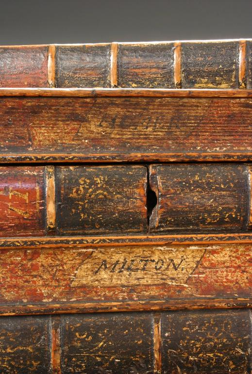 An English Painted Book Form Box Titles including Milton and Poetry In Good Condition For Sale In New York, NY