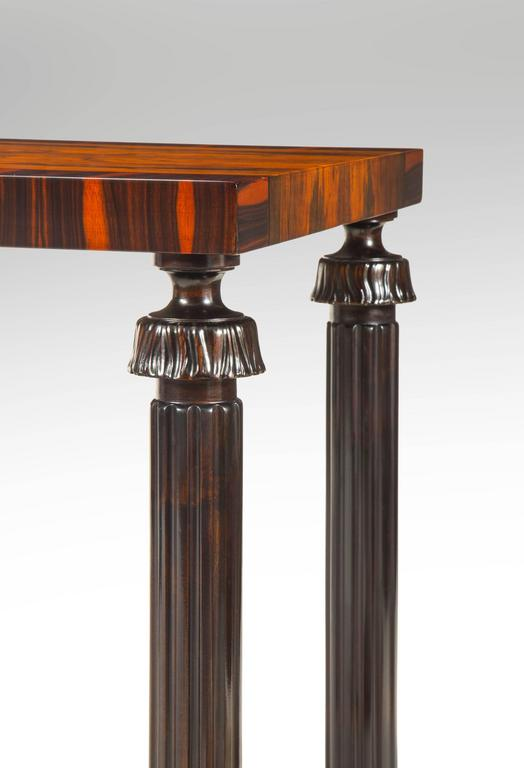 Mid-20th Century Reiners Möbelfabrik, A Swedish Macassar, Palisander and Ebonized Birch Table For Sale