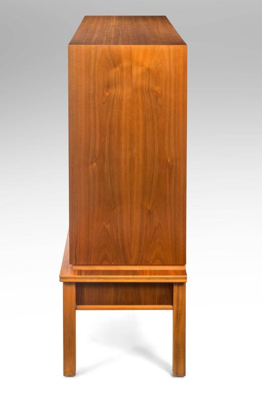 20th Century Oscar Nilsson, Attributed, Swedish Walnut and Beech Cabinet For Sale