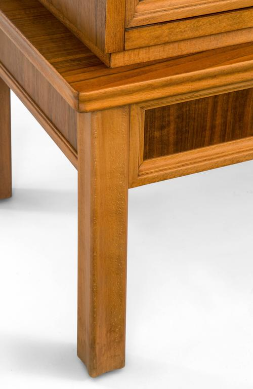 Oscar Nilsson, Attributed, Swedish Walnut and Beech Cabinet For Sale 2