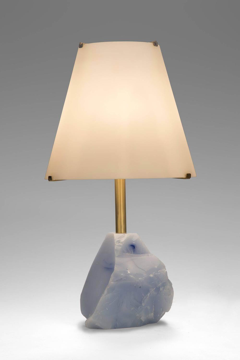 roberto rida a unique pair of iceberg glass lamps for sale at 1stdibs. Black Bedroom Furniture Sets. Home Design Ideas