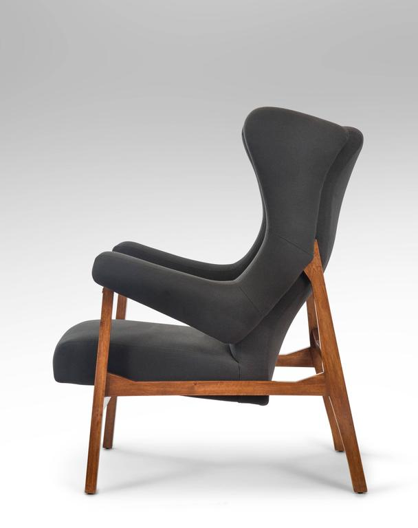 Upholstery Franco Albini, Pair of Rare Italian Fiorenza Upholstered Armchairs For Sale