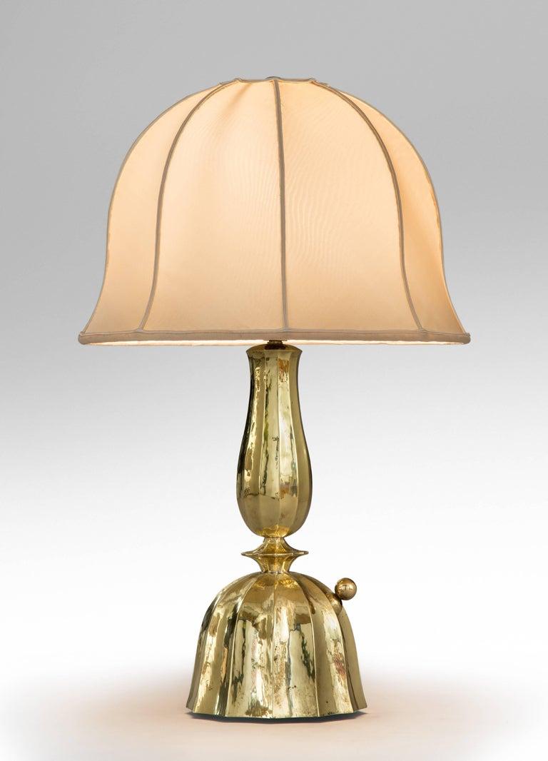 Josef Hoffmann, Wiener Werkestätte, Vienna Secession, Pair Brass Table Lamps For Sale 2