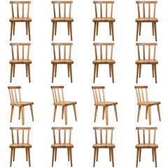 Axel Einar Hjorth for Nordiska Kompaniet, Set of 16 Swedish Pine Utö Chairs