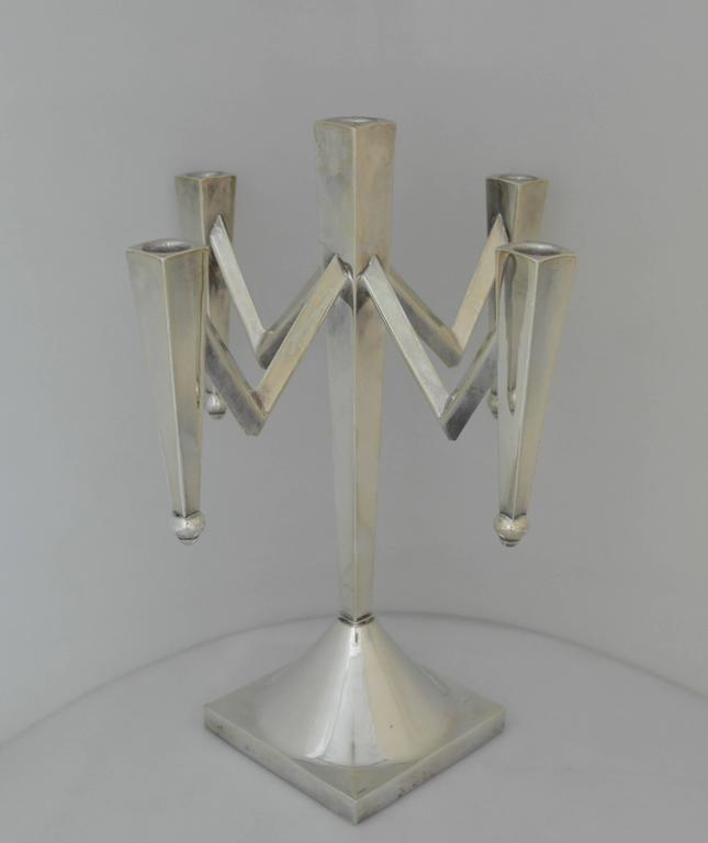 Incredible, Large Mexican Sterling Silver Modernist Five ... - photo#6