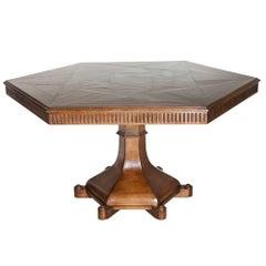 Harbinger Perlin Walnut Pedestal Dining Table