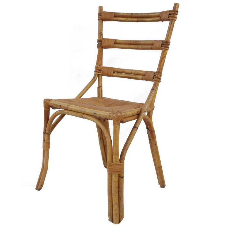 Set of Six Audoux Minet Chairs