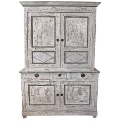 Two-Piece Tall Painted Cabinet