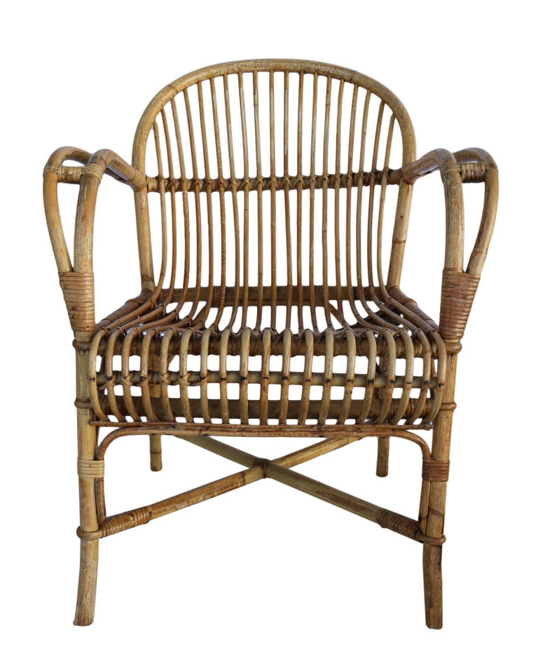 Five Piece Rattan Salon Set For Sale At 1stdibs