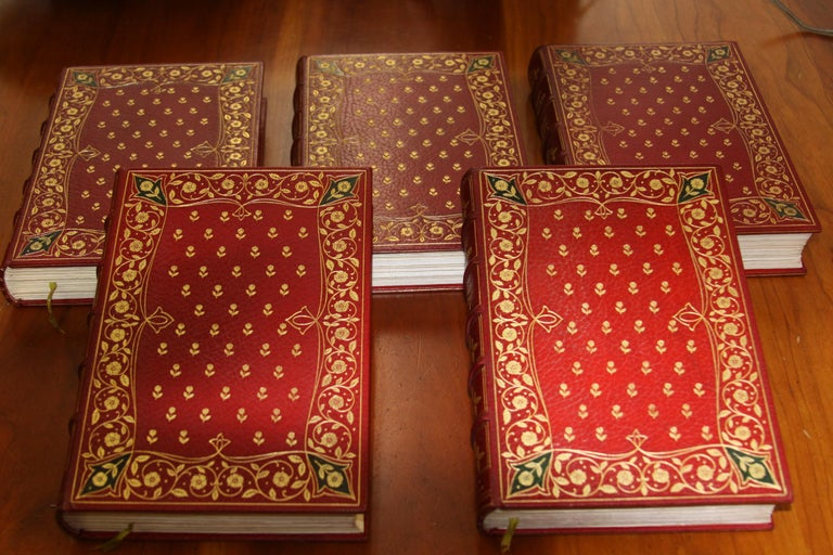 Books, The Novels of Samuel Richardson, Antiques Leather-Bound Collections In Good Condition For Sale In New York, NY