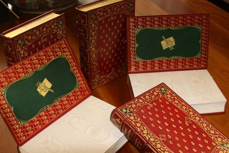 20th Century Books, The Novels of Samuel Richardson, Antiques Leather-Bound Collections For Sale