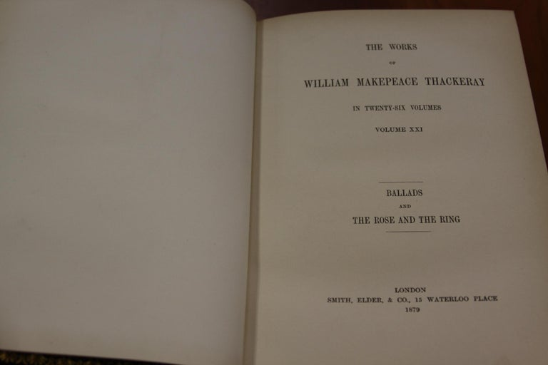 Books, The Writings of William Makepeace Thackeray, Antiques Leather-Bound Set For Sale 2