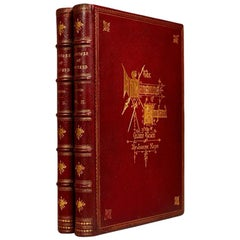 Books the Mansions of England in the Olden Times, Antique Leather-Bound