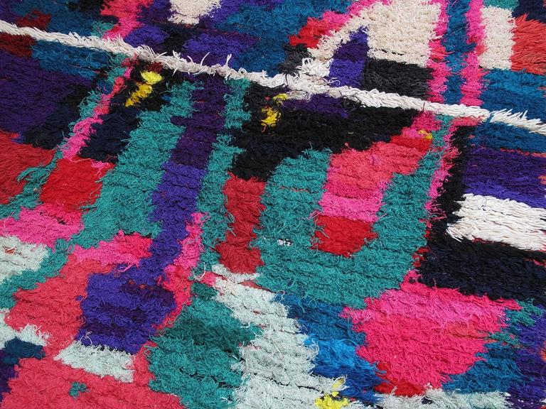 Hand-Knotted Azilal Moroccan Berber Rug For Sale