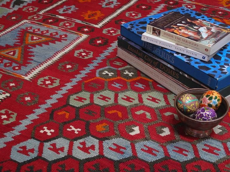 Wool Superb Antique Sharkisla Kilim For Sale