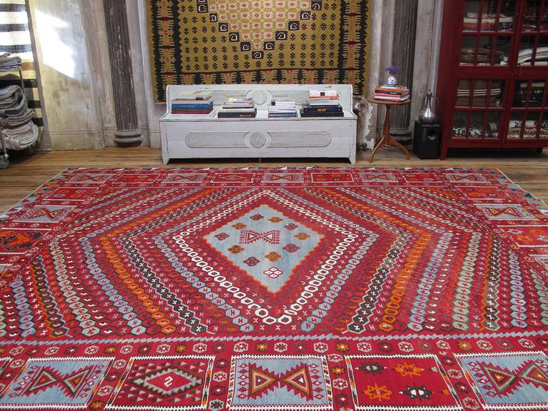 Turkish Superb Antique Sharkisla Kilim For Sale