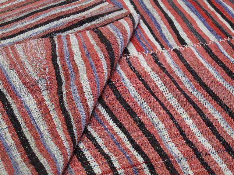 Striped Mazanderan Kilim 8