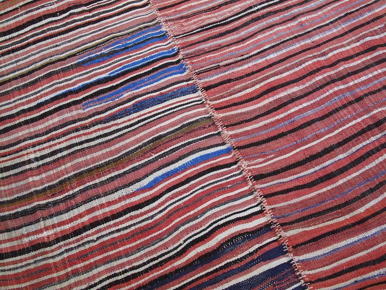Striped Mazanderan Kilim 6