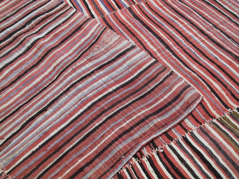 Striped Mazanderan Kilim 9