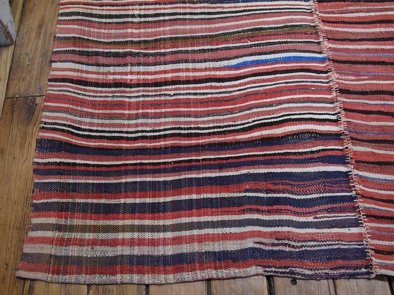 Striped Mazanderan Kilim 10
